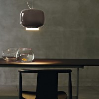 Foscarini-Choushin-2-grey--retro-look-pendant-by-Foscarini